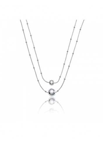 Collar Viceroy Mujer 3223C09000 Metal Doble Hilo Con Bolas Metal Doble Hilo Con Bolas