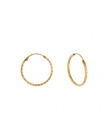 Argollas Oro 18 Kilates Mujer y Niña 1-06548/10 Tubo Cuadrado Tallado 10 x 1 mm