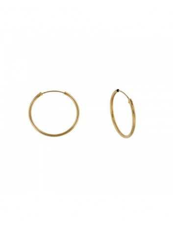 Argollas Oro 9 kilates Mujer 4-07492/10 Tubo Redondo 1.2 X 10 mm