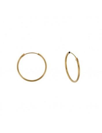 Argollas Oro 9 kilates Mujer y Niña Tubo Redondo 1.2 x 14 mm