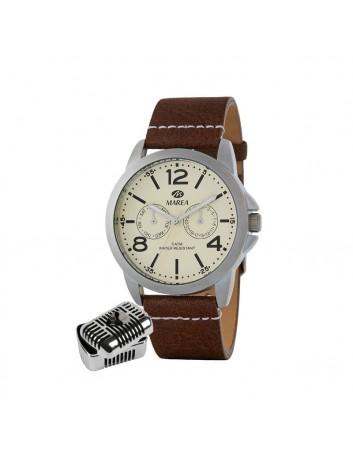 Reloj Marea Hombre B41220/2 Manuel Carrasco Multifunción Correa Piel