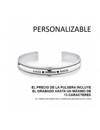 Pulsera Plata Hombre 9111300 Rígida Abierta Personalizable