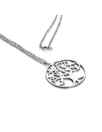 Collar Viceroy Fashion Mujer 80008C01000 Acero Árbol De La Vida Circonitas